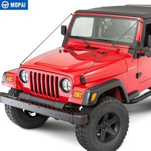 Image 2 - MOPAI Protettiva Cornici per Jeep Wrangler TJ 1997 2006 Cappuccio Chiusura Ostacolo Eliminare Corda Arto Riser Kit per Jeep accessori