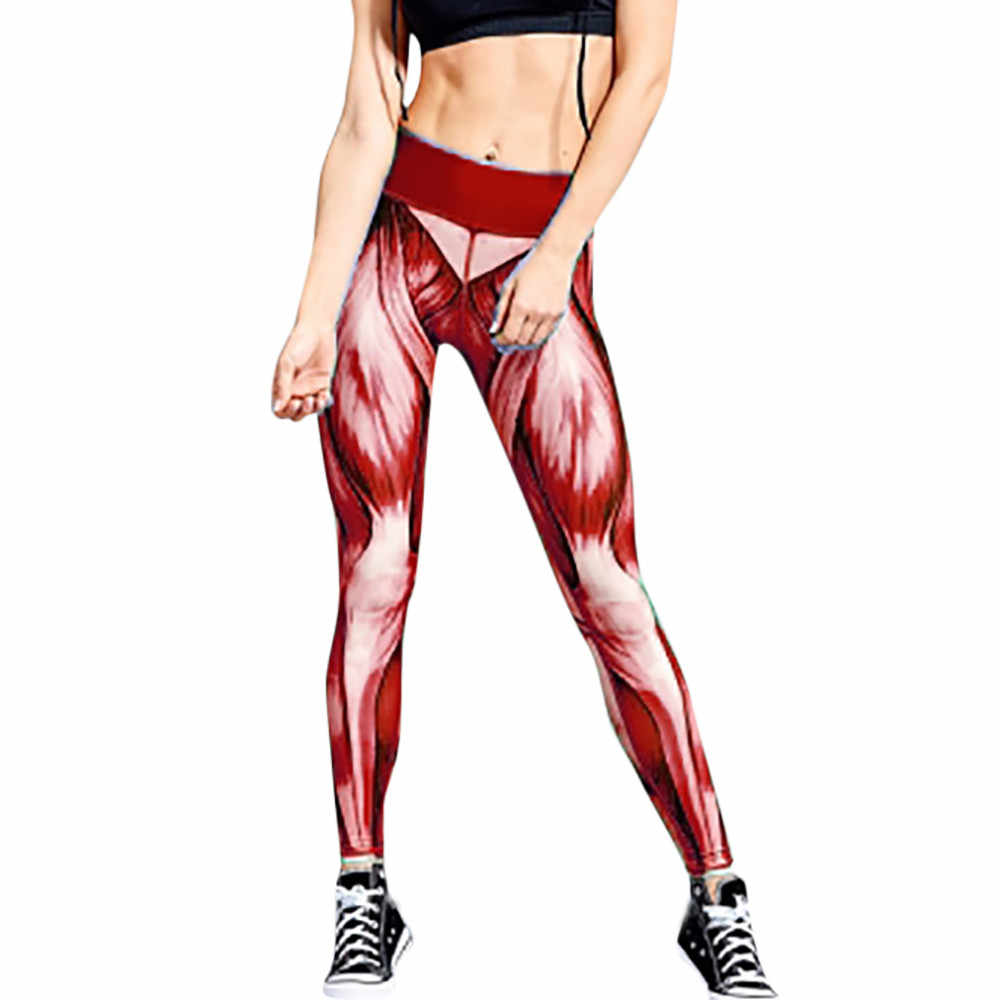 1dc68fc67f179 ... KLV Women Sexy Yoga Pants Printed Dry Fit Sport Pants Elastic Fitness  Gym Pants Workout Running ...