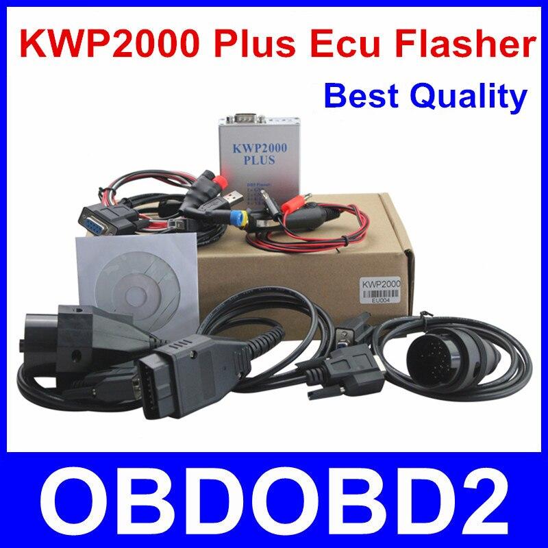 Prix pour Vente chaude KWP2000 Plus OBDII OBD2 ECU Chip Tuning Outil KWP 2000 ECU Plus ECU Flasher Intelligent Remappage Décoder Livraison le bateau