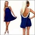 2016 Новый Стиль Лето Женщины Моды 3D Цветок Кружева Рубашки дамы Sexy Шифон Спинки Топы Повседневная Женщин Пляж Cover Up тройники