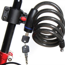 Strong Steel Wire Bike Bicycle Lock Cable 1050mm+2 keys
