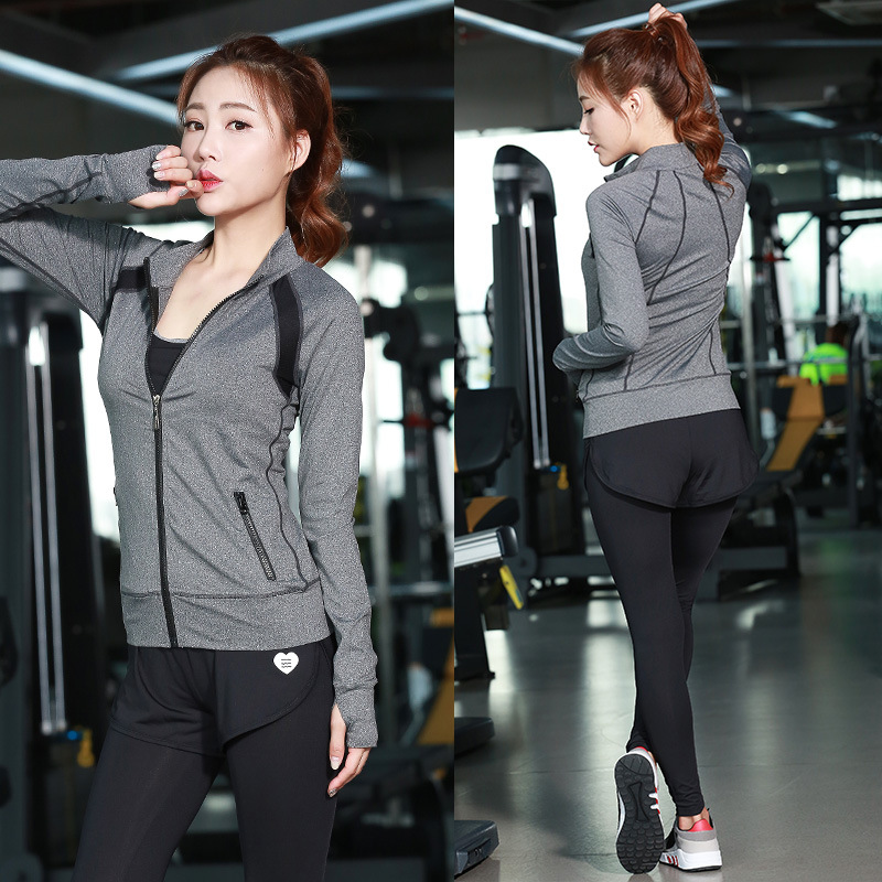 3pcs=1sets Yoga Pants+Sports vest+Long sleeved Jacket,Fitness suits,yoga Sports Set Women Jogging Suit Running Jecket&Pants YG 2017 new brand sports yoga set autumn long sleeved hoodie running fitness sports suits yoga clothing three piece women sweater