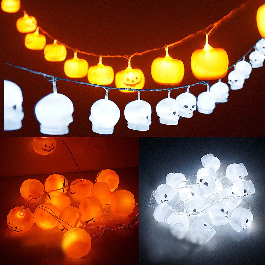 new arrival items 2017 dropshipping halloween decoration halloween illuminated skull skeleton ghost lights pumpkin 0814