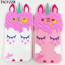 New Fashion 3D Cartoon Unicorn Case Silicon Soft Cover For Samsung Galaxy 2015 2016 2017 J1 J2 J3 J5 J7 On5 On7 Prime