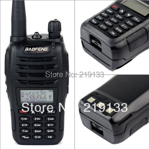 New Black BaoFeng UV-B6 Walkie Talkie 136-174MHz&<font><b>400</b></font>-470 <font><b>MHz</b></font> cheap Two Way Radio with free shipping+free earpiece than UV-B5 image