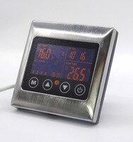 Metal çerçeve 7 gün on/off oto kontrolü Program Editörü üst dişli Yerden Isıtma Termostat Dokunmatik Ekran ile