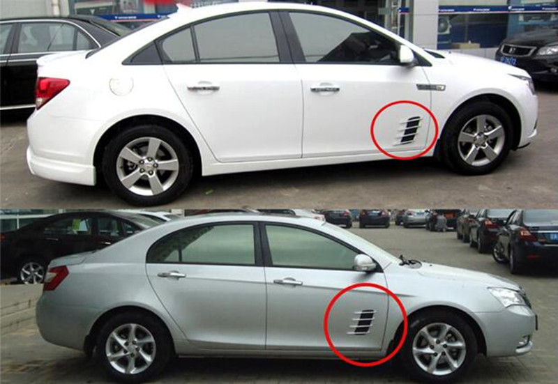 2pcs Car styling the shark gills vent air decoration car stickers for Honda fit accord crv civic 2006-2012 jazz accessories