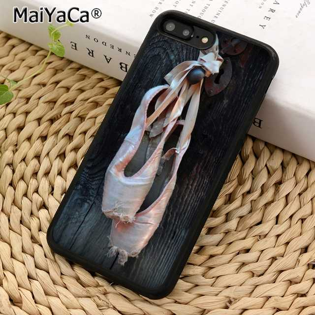 pretty nice 63776 47e13 MaiYaCa Ballerina En Pointe Ballet Slippers Shoes Dance Dancer Phone Case  Cover for iPhone 5 5s SE 6 6s 7 8 X XR XS max Plus