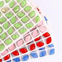 Ice Lemon Shape Rhinestone decoration Flowers K9 Glass Crystal Sewing & Fabric Pointback Fancy Stone ice