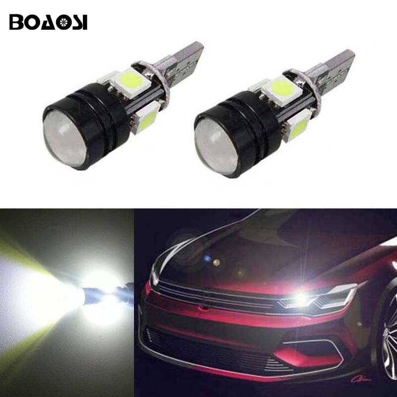 BOAOSI 2x T10 LED Error Free Eyebrow Eyelid Light Bulb For VW Golf 5 Polo Jetta Bora Passat CC B7 Tiguan Touareg Scirocco Eos rcd330 plus mib ui radio for golf 5 6 jetta cc tiguan passat polo