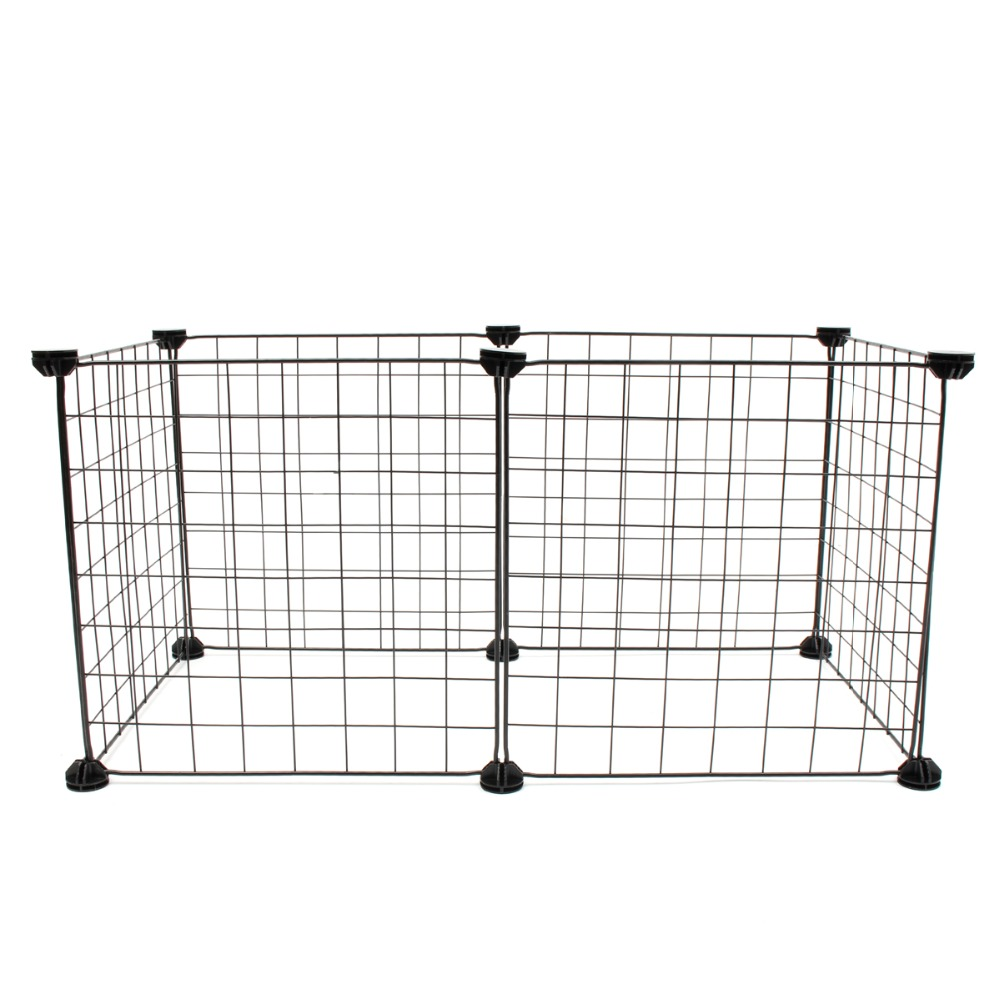 6 Panels Foldable Pet Dogs Playpen Crate Fence Puppy