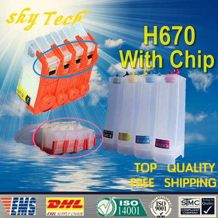 ФОТО Empty CISS suit for  Hp670 hp-670 ciss suit for hp4615 HP4625 HP5235  , With permanent chips , free shipping
