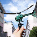 Handle pull the plane pull helicopter aviation model helicopter children's outdoor play a good gift for children and friends
