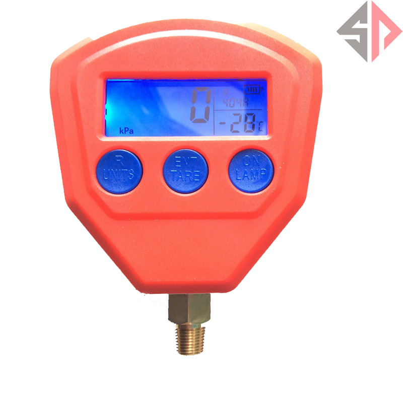 Digital LCD Display High Low Pressure Gauge Set for Automotive A/C Air Conditioning Refrigerant Tool [randomtext category=