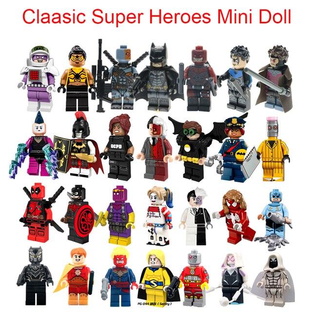 Clássico LEGOINGLYS Super Heroes Mini Tijolo Pantera Negra Hyperion Deadshot Ms Marvel Figuras Única Venda Blocos de Construção de Brinquedos