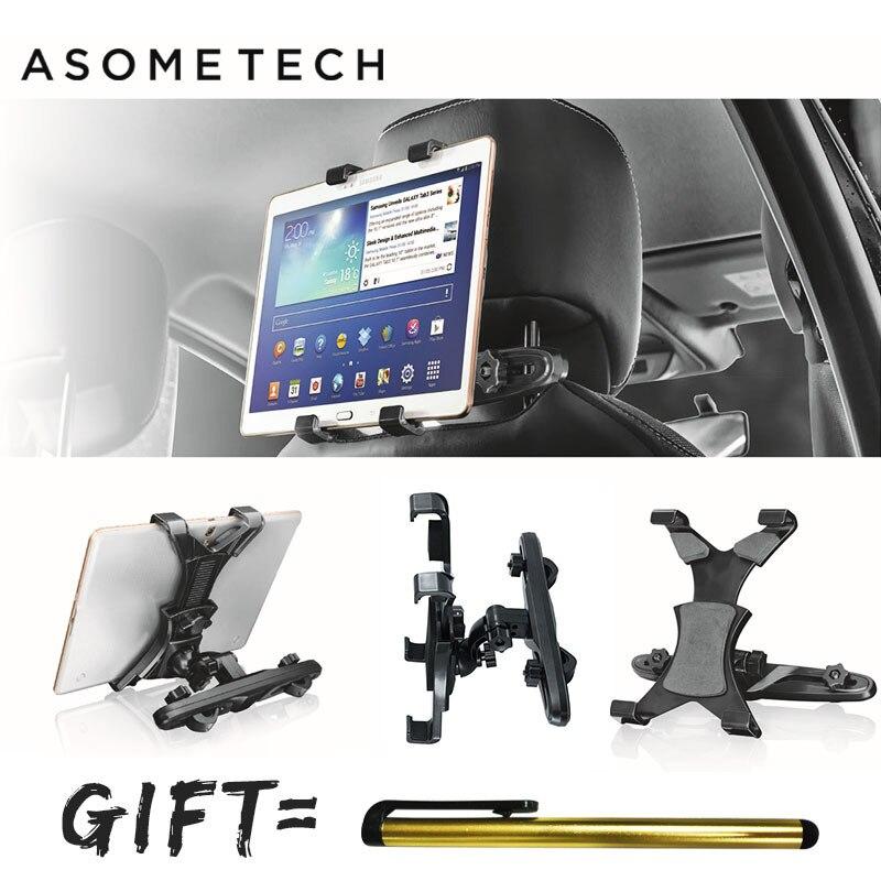 Telescópico rotación de 360 grados reposacabezas de coche soporte de Tablet ipad/Samsung/Xiaomi/Huawei Tab Coche asiento de soporte titular de montaje