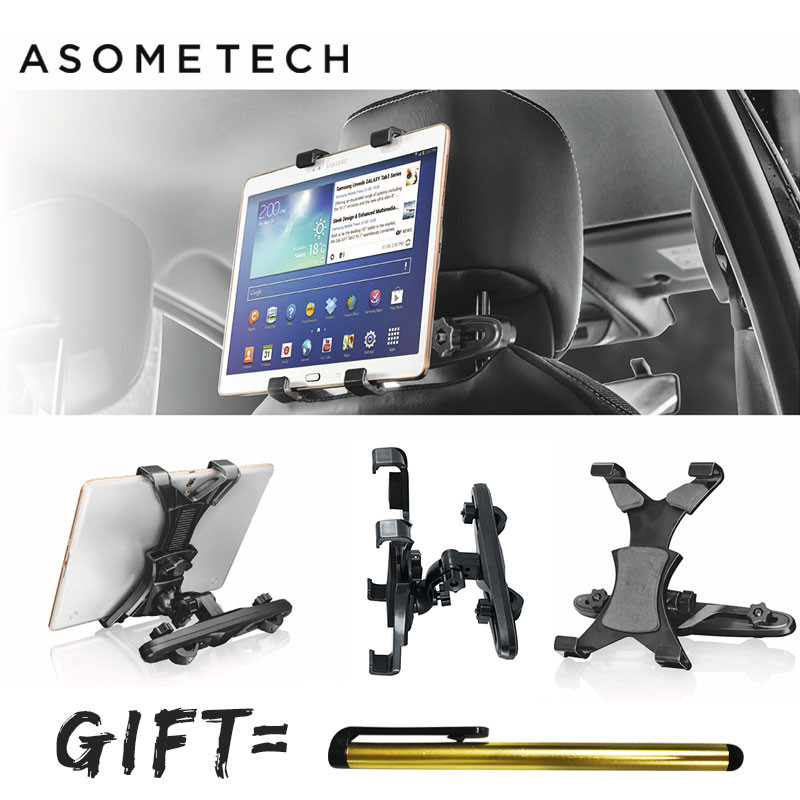 Telescopic 360 Degree Rotation Car Headrest Tablet Stand For ipad/Samsung/Xiaomi/Huawei Tab Support Car back Seat Mount Holder baseus 360 degree rotation magnetic car mount holder silver