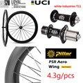 Высококлассная 700c углеродное колесо для шоссейного велосипеда  велосипедная колесная пара с белыми индустриями T11  ступица и столб  крыло 20 ...