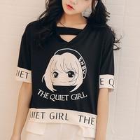 Super Cute Cartoon T Shirt Women Lovely Cool Summer Clothes Comfortable Tops Casual Tees T Shirts