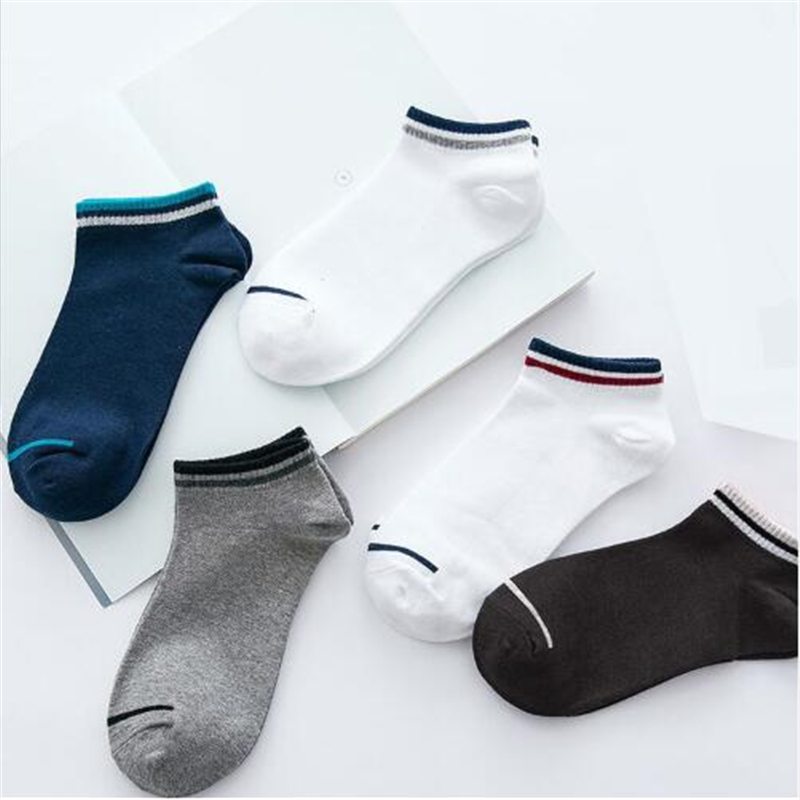 FRALOSHA Five Pairs Four Seasons Boat-type Men's Cotton Socks Low Top And Low Top Deodorant Cotton Sports Socks Summer Socks TI9