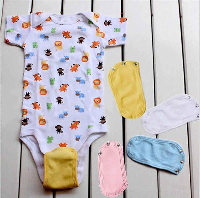2018 מותג חדש לתינוקות בגד גוף סרבל סרבל מוצק רך כותנה חיתול להאריך Extender הארכת Extender הסיטונאי
