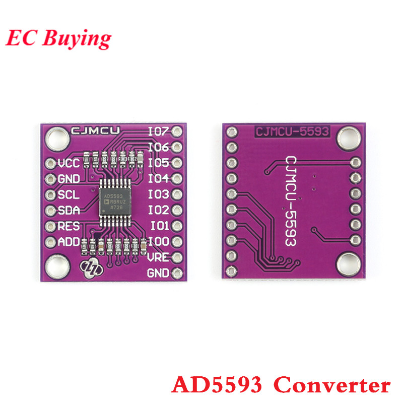 AD5593 Converter Module ADC DAC 8 Channel 2 Bit Analog to Digital Converter Configurable AD5593 ModuleAD5593 Converter Module ADC DAC 8 Channel 2 Bit Analog to Digital Converter Configurable AD5593 Module