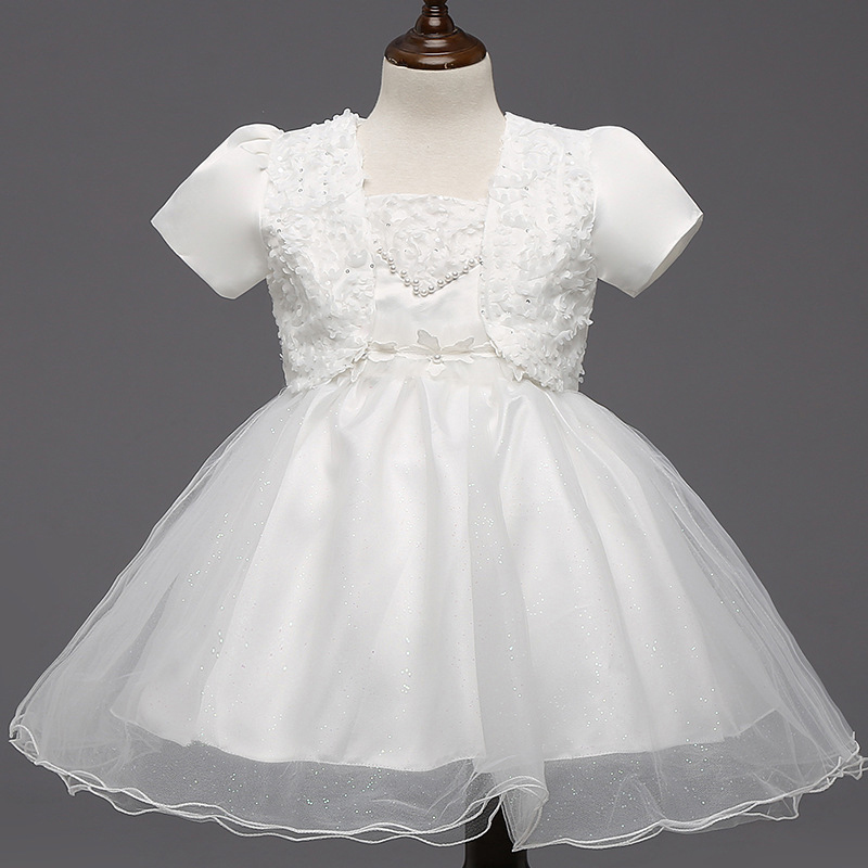 Hot Sale Girls Suspender Belt Princess Dresses with Short Sleeved Shawl Kids Beaded Ball Gown Vestidos Flower Girls Dresses  от Aliexpress INT