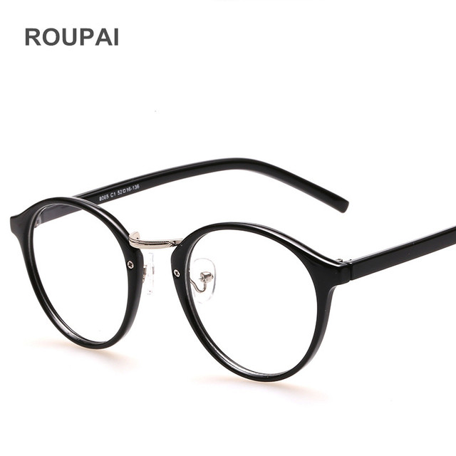 ROUPAI Clear Glasses Frame for Women Retro Round fake Eyewear Frames ...