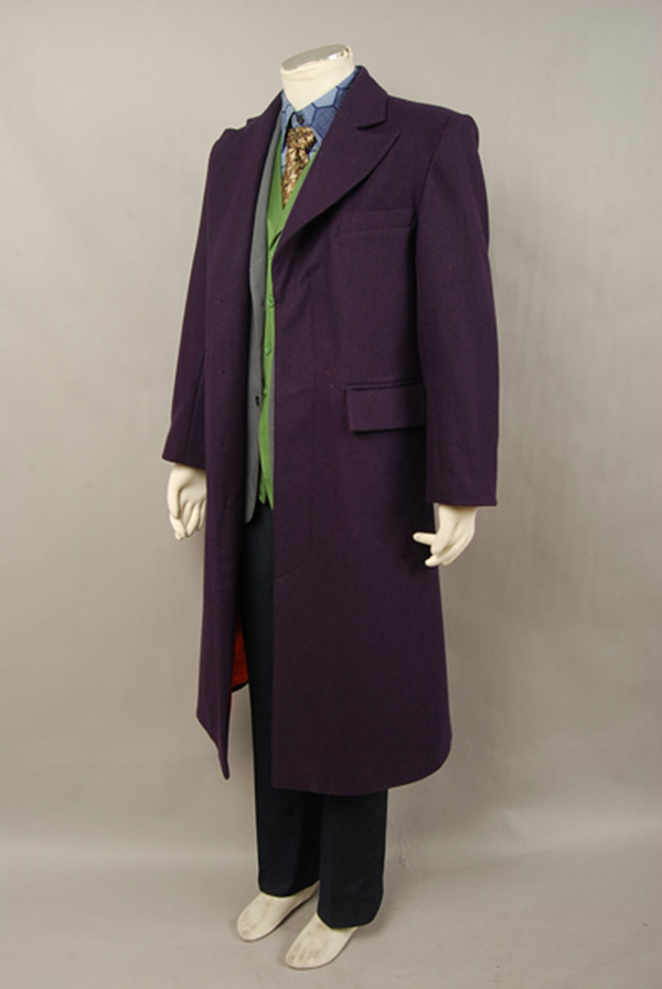 Batman Dark Knight Joker Trench Coat de lana púrpura para hombres - Disfraces - foto 2