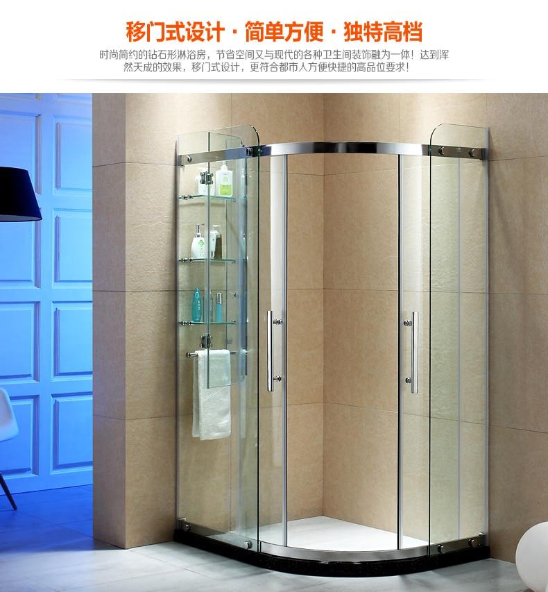 Shower Cabin Bathroom Shower Room Sliding Door Simple Glass