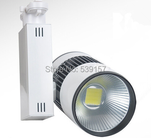 Free Shipping 30W COB LED Track Lights with Epistar LED Chip Commercial Lighting 2 Years Warranty 6pcs/lot