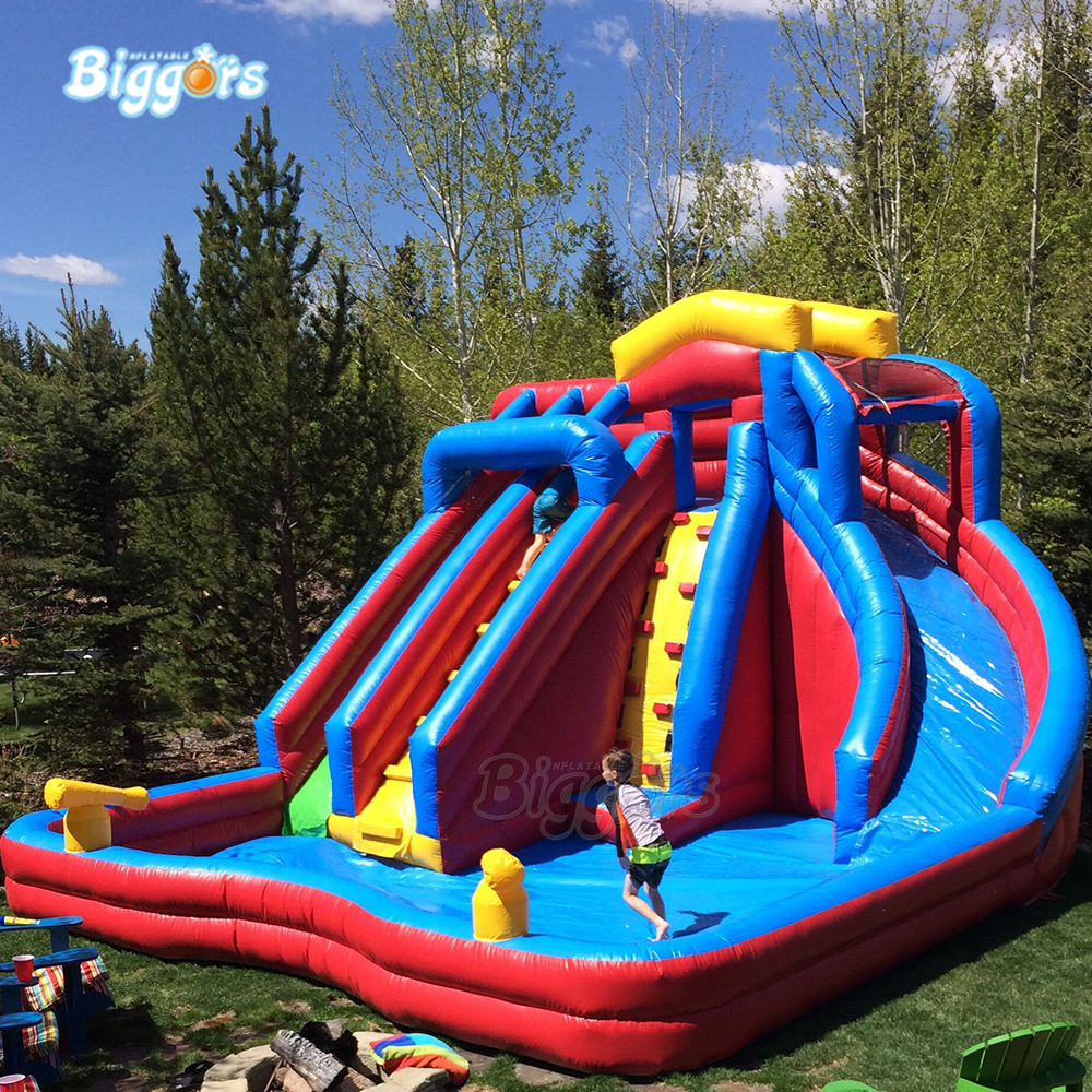 In Stock Giant Pvc Commercial Summer Game Inflatable Bouncing Water Slide Pool With Blowers Inflatable Bouncers Aliexpress