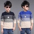 Crianças Blusas de Malha Para Os Meninos Roupas de Algodão Meninos de Escola Blusas Outono crianças Roupas de Inverno Adolescente Meninos Encabeça 6 8 10 14 Y