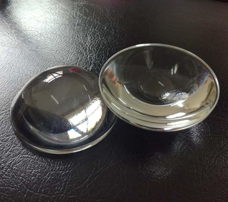 2PCS 89mm Optical Glass Design LED Focal Length 65mm Plano Convex Glass Lens For DIY Condensing Lens Focusing Flashlight Lens цена 2016