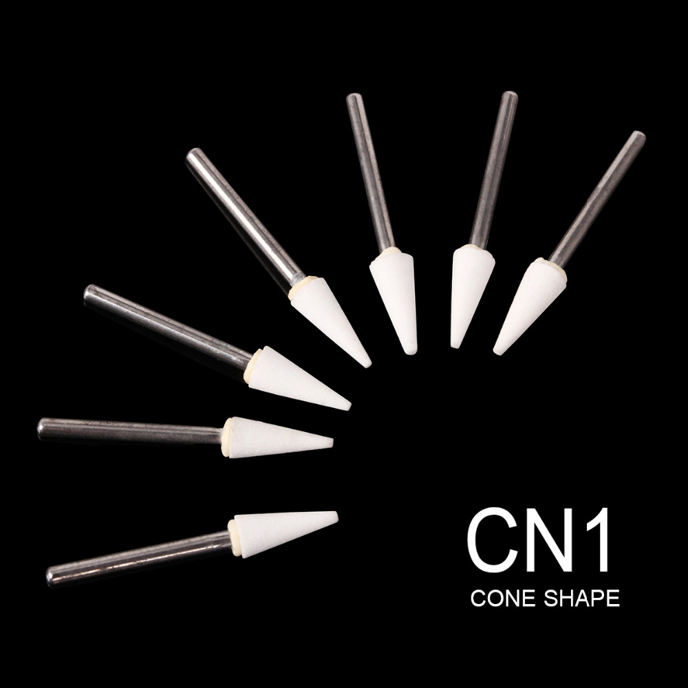 New 12Pcs Dental Cone White Stone Polishing FG Burs FL2 Abrasion Point Bur Fit High Speed Handpiece 1.6mm Dentist Tools