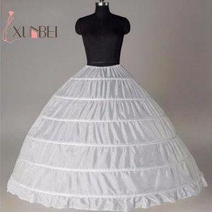Image 1 - Biały 6 Hoops halki dla suknia ślubna krynolina podkoszulek tanie ceny akcesoria ślubne dla Brial suknia balowa