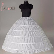 White 6 Hoops Petticoats for Wedding Dress Crinoline Underskirt Cheap Price Wedding Accessories For Brial Ball Gown