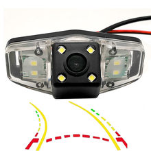 Intelligente Dynamische Traject Tracks Auto Rear View Parking Backup Camera Voor Honda Pilot Accord Odyssey Acura Tsx Civic Ek Fd(China)
