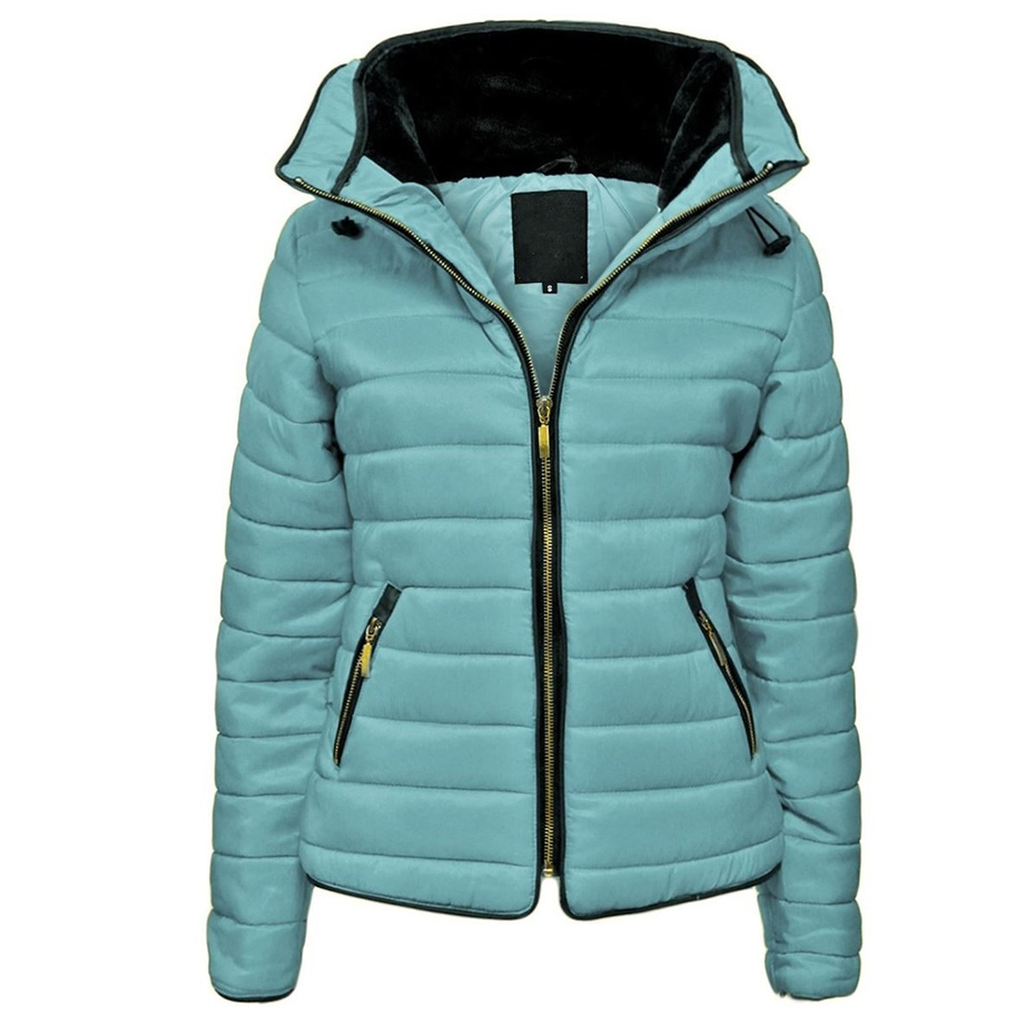 ZOGAA Woman Coats Winter 2019 Puffer Jacket Parka Women Brand Hooded Coats Causal Slim Fit Solid Color Winter Coat Parka Women