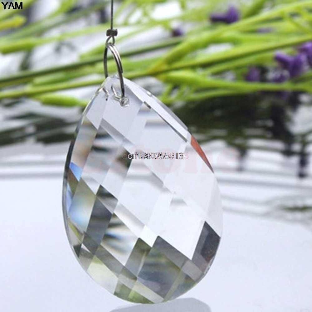 1Clear Chandelier Glass Crystals Lamp Prisms Parts Hanging Drops Pendants 38mm