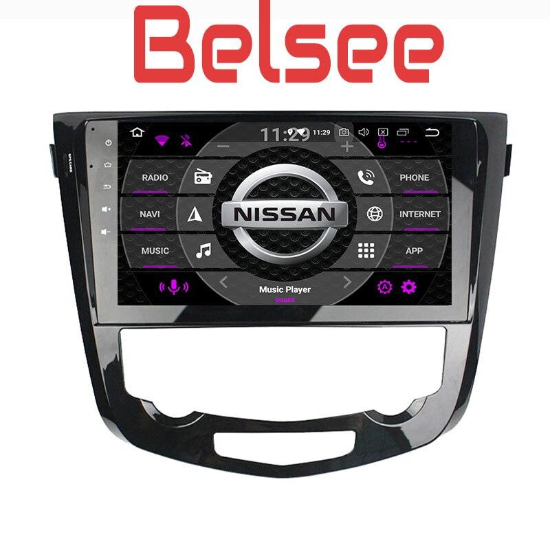 Belsee pour Nissan Qashqai 2013-2017 PX5 Octa Core stéréo Android 8.0 Autoradio GPS Navigation tête unité WiFi Bluetooth Autoradio