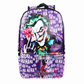 DC Comics Suicide Squad Joker Jack Harley Quinn Logo Leather Messenger School Bags backpack Men Large Capacity Backpack