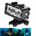 Frete Grátis! New Ir À Prova D' Água Pro LED luz de vídeo flash, Luz Subaquática de Mergulho Para GoPro Hero4/3 +, SJ4000/Xiaomi Yi SJCAM Cam
