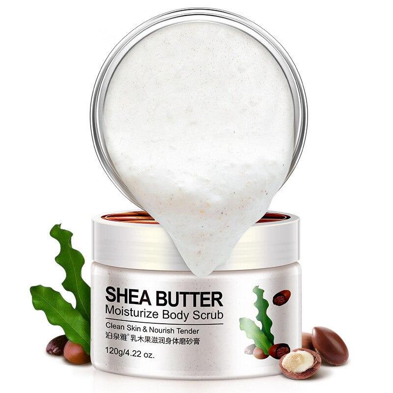 Natural Shea Butter Fruit Body Scrub Exfoliating Gel Whitening Moisturizing Go Cutin Dead Skin Care Cucumber Almond Scrub Cream