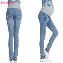 Elastic Waist Maternity Jeans Pants For Pregnancy Clothes For Pregnant Women Legging Maternity Spring / Autumn Long Pencil Pants цены онлайн