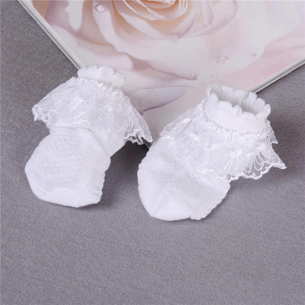 Breathable Cotton Lace Ruffle Princess Mesh Socks Children's Ankle Short Sock White Pink Yellow Baby Girls Kids Toddler