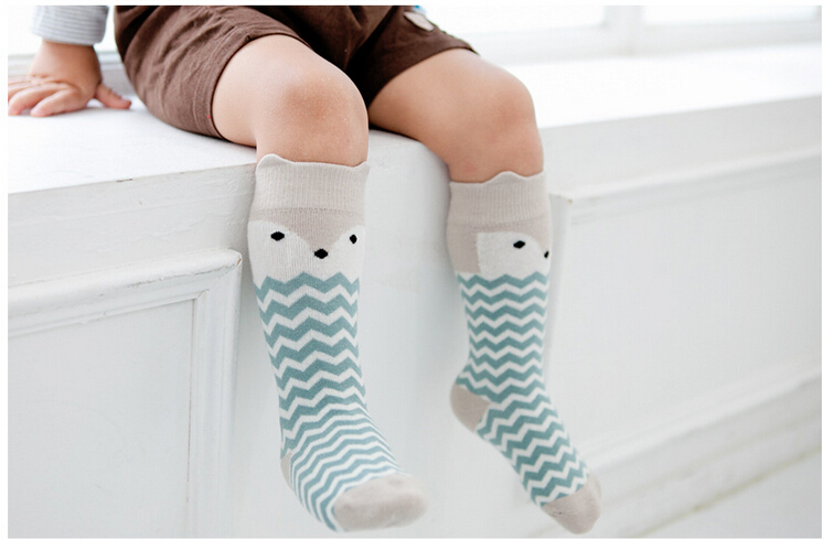 2015 Fox Socks Baby Knee High Socks Chaussettes Enfant Newborn