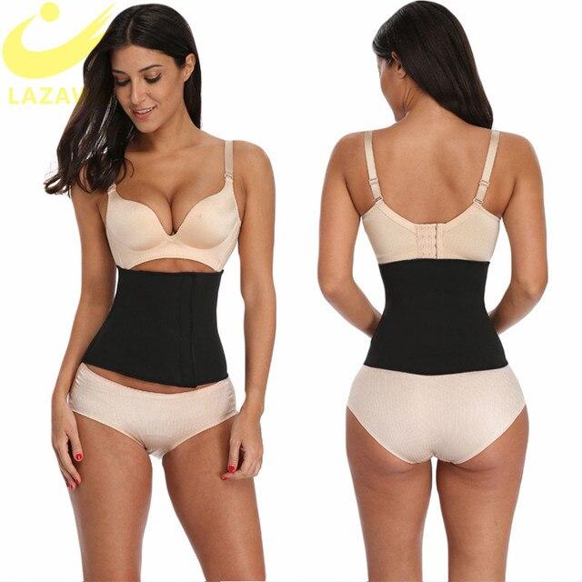LAZAWG Women Waist Trainer Tummy Control Belt Magic Sticker Girdle Hot Neoprene Waist Belt Sweat Sauna Strap Slimming Underwear 3