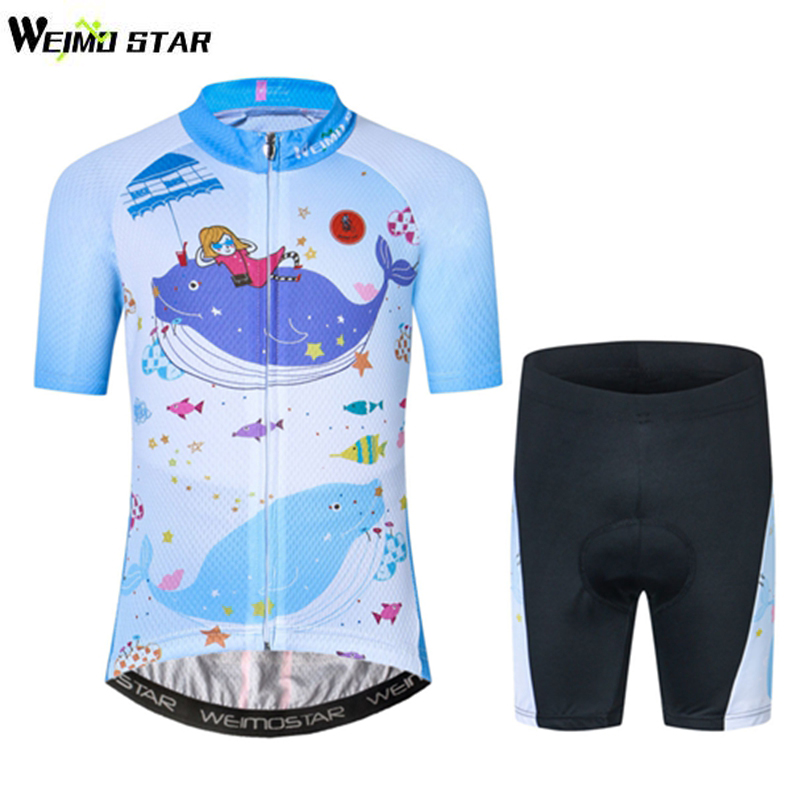 Weimostar Kids Cycling Jersey Children Bike Jersey Short Sleeve 3D Gel Shorts Set  Bicycle Clothing Suit Ropa Ciclismo Quick Dry children s bicycle kids balance bike ride on toys for kids four wheels child bicycle carbon steel bike for children 1 2 years