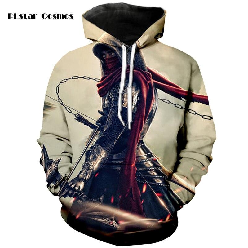 PLstar Cosmos brand cool future robot warrior 3D printed hoodie hip-hop street sweatshirt neutral spring autumn  hoodie S-5XL
